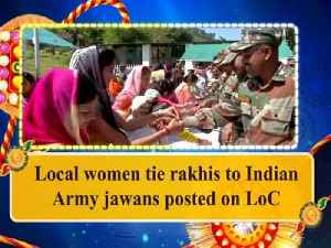 Local women tie rakhis to Indian Army jawans posted on LoC [Video]