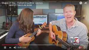 The sweetest father/daughter duo [Video]