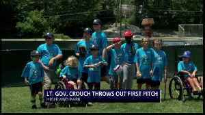 Indiana Lieutenant Governor Throws First Pitch at Final Base [Video]