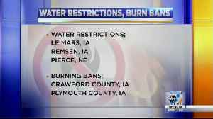 Burning bans and water restrictions in some communities [Video]