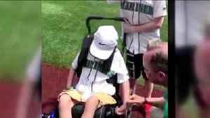 'Triathlon Brothers' throw out first pitch [Video]