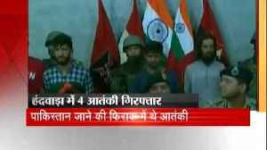 Security forces arrested 4 terrorists during an encounter in J&K [Video]