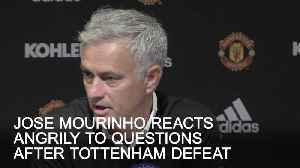 Jose Mourinho reacts angrily to questions after Tottenham loss [Video]