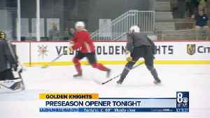 Golden Knights cool and ready for 1st preseason home game [Video]
