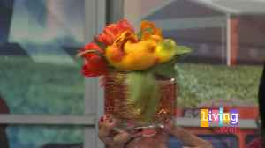 Add A Pop Of Fall Color To An End Table With A DIY Vase [Video]