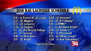 2018 women's lacrosse schedule released [Video]