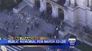 Public memorial for San Francisco Mayor [Video]
