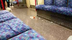 Laughing gas canisters littered on tube after Notting Hill carnival [Video]