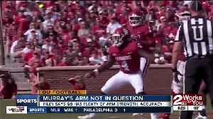 Lincoln Riley has no concerns about Kyler Murray's arm talent [Video]