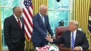 Trump meets Infantino at White House [Video]