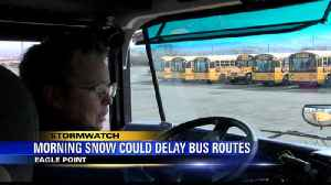 Morning Snow Could Delay Bus Routes [Video]