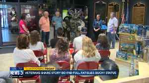 Local veterans celebrate flag day with military Bucky on Parade [Video]
