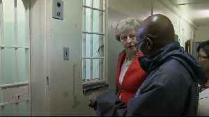 Theresa May visits Nelson Mandela's cell on Robben Island [Video]
