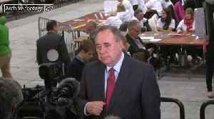 Alex Salmond resigns from SNP amid harassment claims storm [Video]