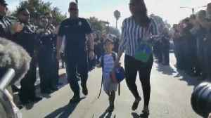 4-Year-Old Son of Fallen Officer Gets Police Escort on First Day of School [Video]