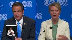 Cuomo, Nixon argue over Trump at NY governor debate [Video]
