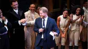 Prince Harry Steals The Show At 'Hamilton' Musical In West End [Video]