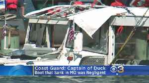 Officials: Captain Found Negligent In Duck Boat Accident That Killed 17 [Video]