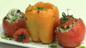 Making stuffed Tomatoes and Peppers with Chef Allison Davis [Video]