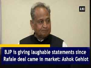 BJP is giving laughable statements since Rafale deal came in market: Ashok Gehlot [Video]
