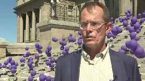 Empty shoes and balloons puts opioid epidemic in perspective at the state capitol [Video]