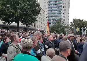 Demonstrators Holding German Flags Gather in Chemnitz [Video]