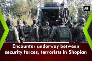 Encounter underway between security forces, terrorists in Shopian [Video]