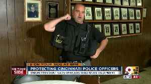 Officers need more protective equipment, union president says [Video]