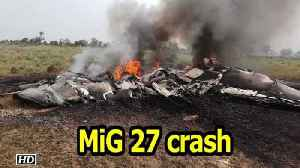 IAF MiG crashes near Jodhpur [Video]