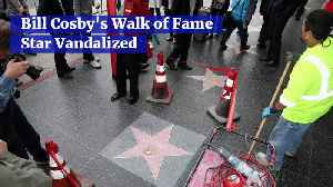 Bill Cosby's Walk of Fame Star Vandalized [Video]
