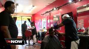 Local barbershops gets kids ready for first day of school with new haircuts [Video]