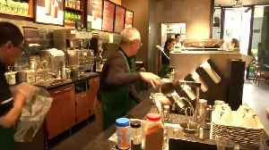 Senior staff only at Mexico City Starbucks cafe [Video]