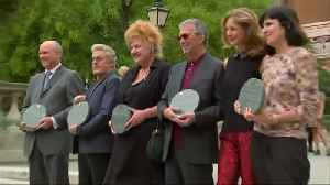 Clapton, Churchill among those honoured by Royal Albert Hall 'Walk of Fame' [Video]