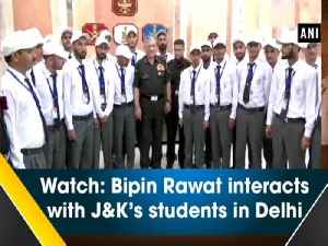 Watch: Bipin Rawat interacts with J&K's students in Delhi [Video]