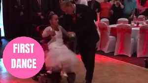 Heartwarming first dance between wheelchair-bound bride and her able-bodied husband [Video]