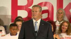 Gov. Baker's victory speech: 'Let's keep moving in the right direction' [Video]