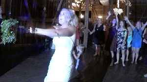 Wedding hero saves the moment bouquet toss goes wrong [Video]
