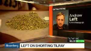 News video: Why Citron's Andrew Left Is Shorting Tilray