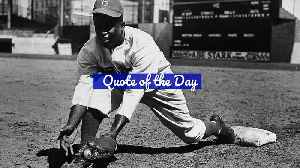 Quote of the Day - Jackie Robinson [Video]