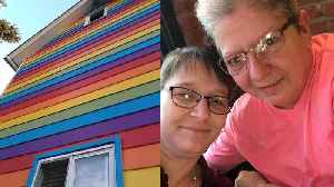 Lesbian Couple Paints Their House with Rainbow Colors To Show Pride [Video]