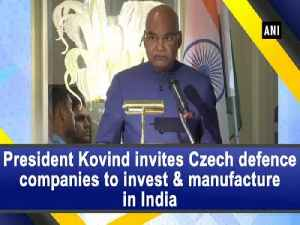 President Kovind invites Czech defence companies to invest and manufacture in India [Video]