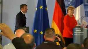 Under-pressure French and German leaders meeting in Marseille [Video]