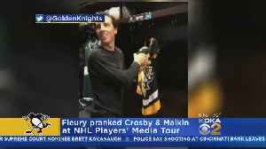 Fleury Pranks Crosby & Malkin, Gets Face Wash For His Troubles [Video]