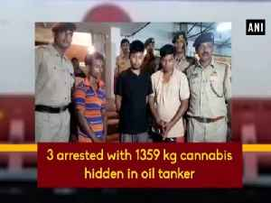 3 arrested with 1359 kg cannabis hidden in oil tanker [Video]