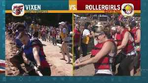 Vixen Brawl With Roller Girls! [Video]