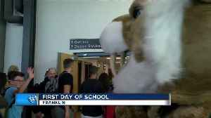 First day back to school at Franklin [Video]