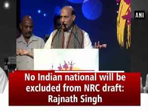 No Indian national will be excluded from NRC draft: Rajnath Singh [Video]