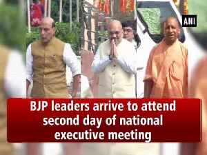 BJP leaders arrive to attend second day of national executive meeting [Video]