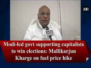 Modi-led govt supporting capitalists to win elections: Mallikarjun Kharge on fuel price hike [Video]