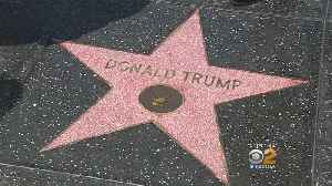 Donald Trump's Star Returns To Hollywood Walk Of Fame [Video]